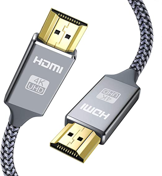 Capshi High Speed 18Gbps HDMI 2.0 Cable,4K, 3D, 2160P, 1080P, Ethernet - 28AWG Braided HDMI Cord