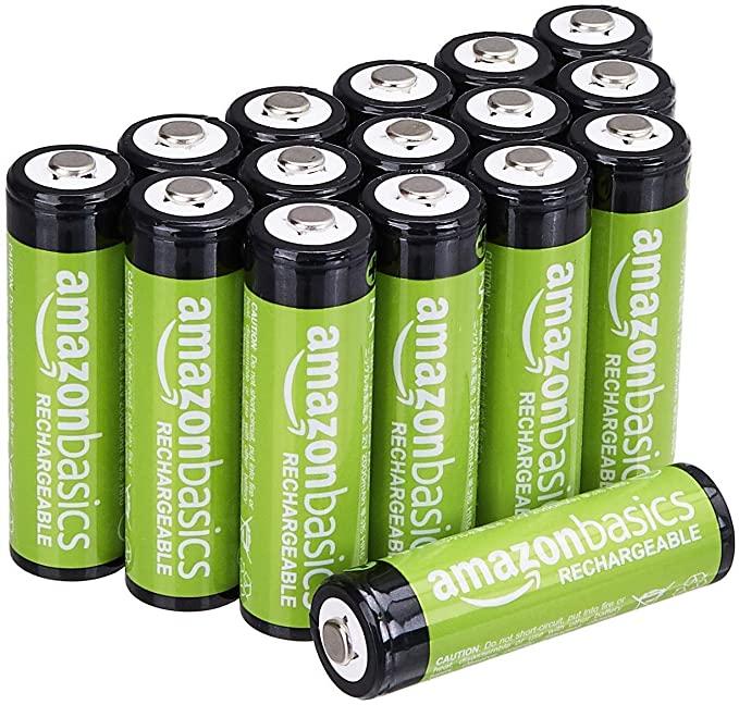 Amazon Basics 16-Pack AA Rechargeable Batteries
