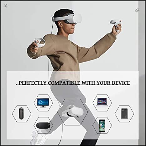 KRX Link Cable Compatible for Oculus Quest 2