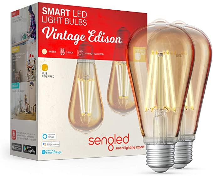 Sengled Smart Light Bulbs Vintage LED Edison Bulb 7.2W