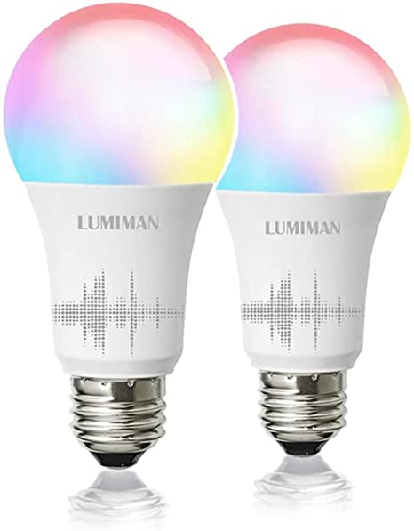 Smart WiFi Light Bulb, LED RGBCW Color Changing