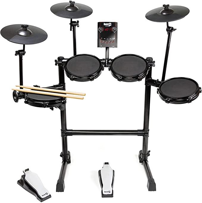 RockJam Eight-Piece Electric Drum Set